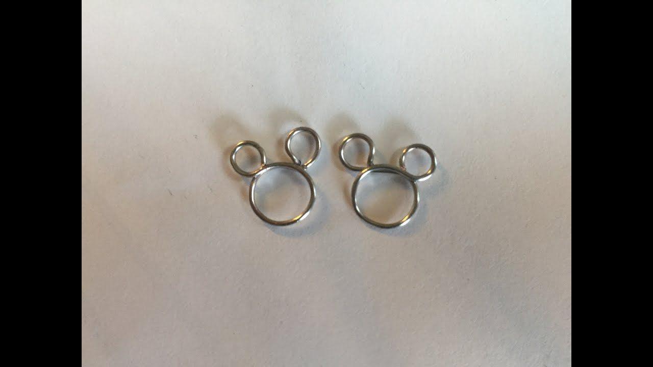 6afe78e24 Diy sieraden: Mickey Mouse oorbellen / Mickey Mouse earrings - YouTube.  Ijzerdraad, sieraden
