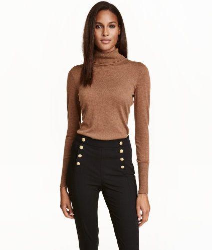 45afb08a4b1cdf Fine-knit Turtleneck Sweater | Black | Ladies | H&M US | Fashion H&M ...