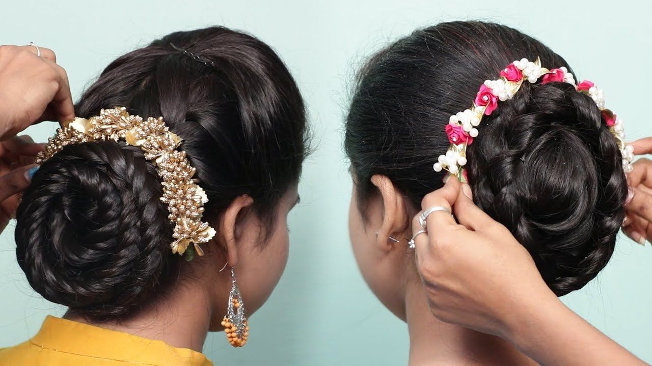 2 Easy Bun Hairstyles With Trick For Wedding Party Hair Style Girl C Bun Hairstyles Easy Bun Hairstyles Party Hairstyles