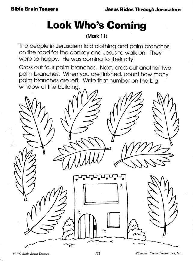palm sunday activity pages