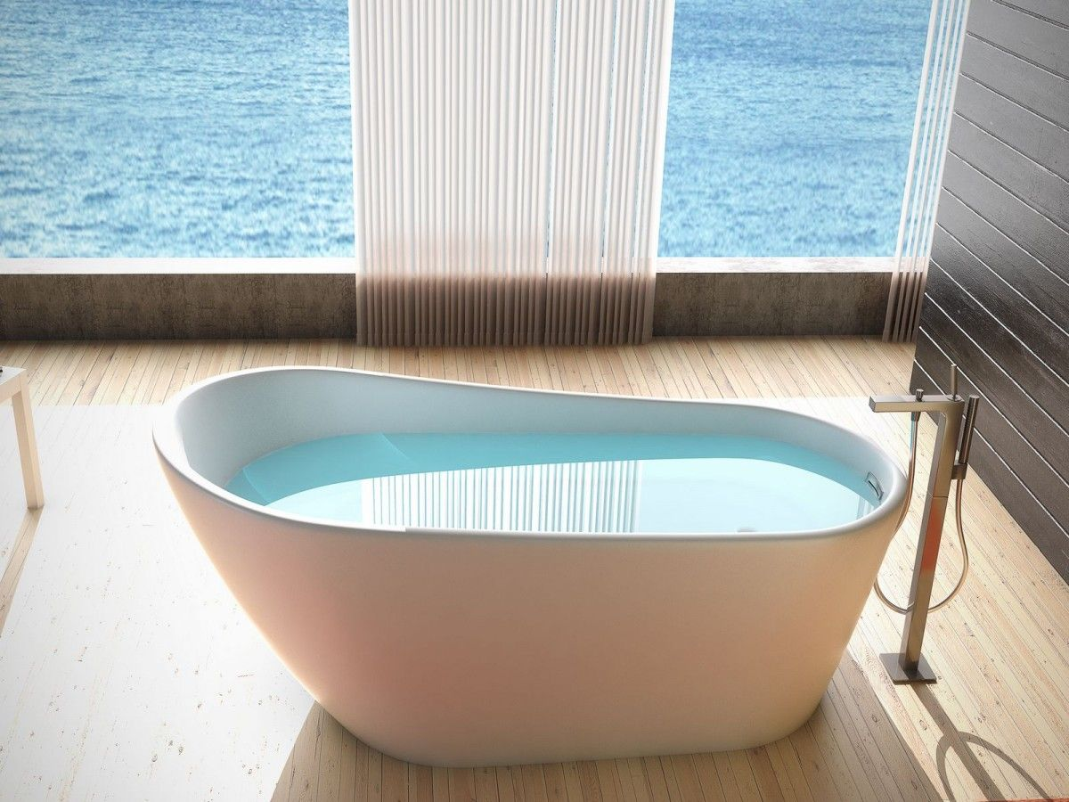 Lucid J87 59 X 31 X 29 Freestanding White Acrylic Tub With