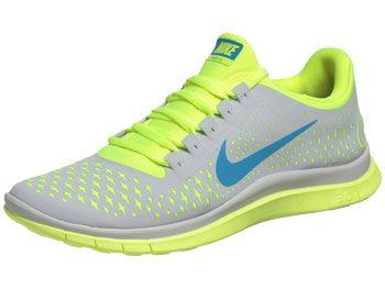 Nike FREE 3.0 v4 Men's Shoes Volt/Blue