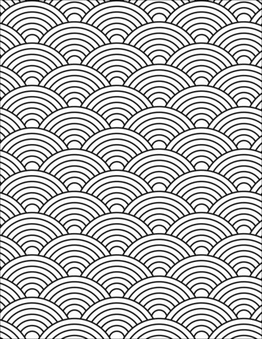 Japanese Wave Pattern Coloring Page Japanese Waves Pattern