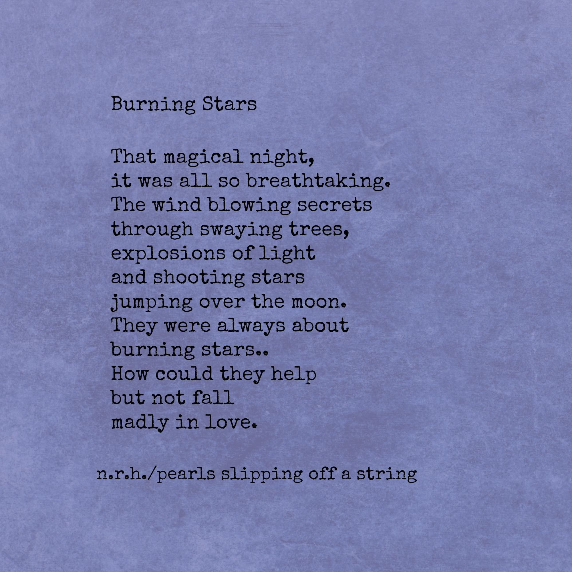 shooting stars poem
