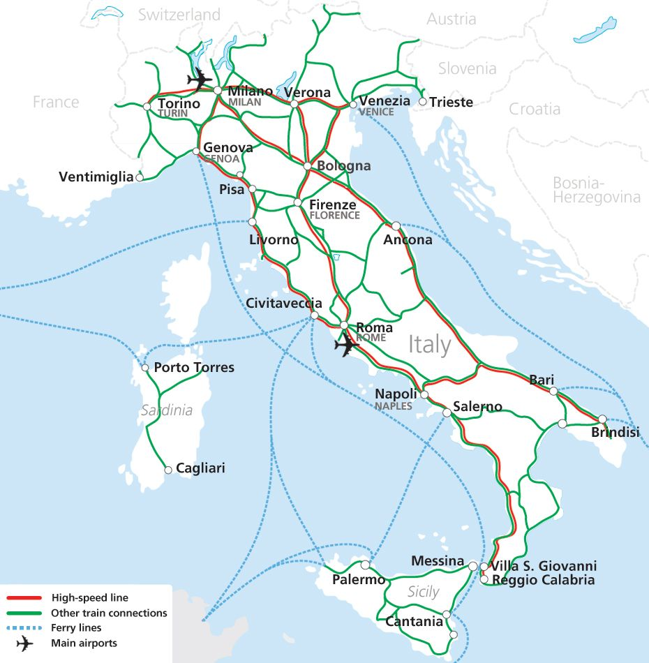 Map Of Trains In Italy.Traveling Italy By Train Italy Dream Board Of Places To Visit