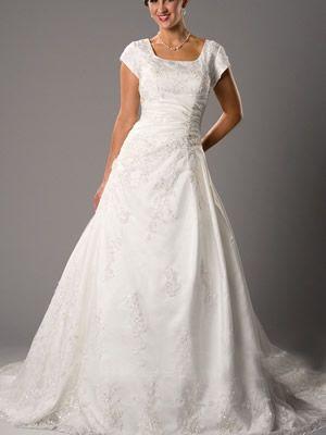Wunderschöne Prinzessin Quadrat Gericht Satin Modest Brautkleider ...