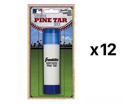 Grips 181325: Franklin Sports Mlb Baseball Batters Pine Tar Stick Heavy Duty Grip (12-Pack) BUY IT NOW ONLY: $79.95
