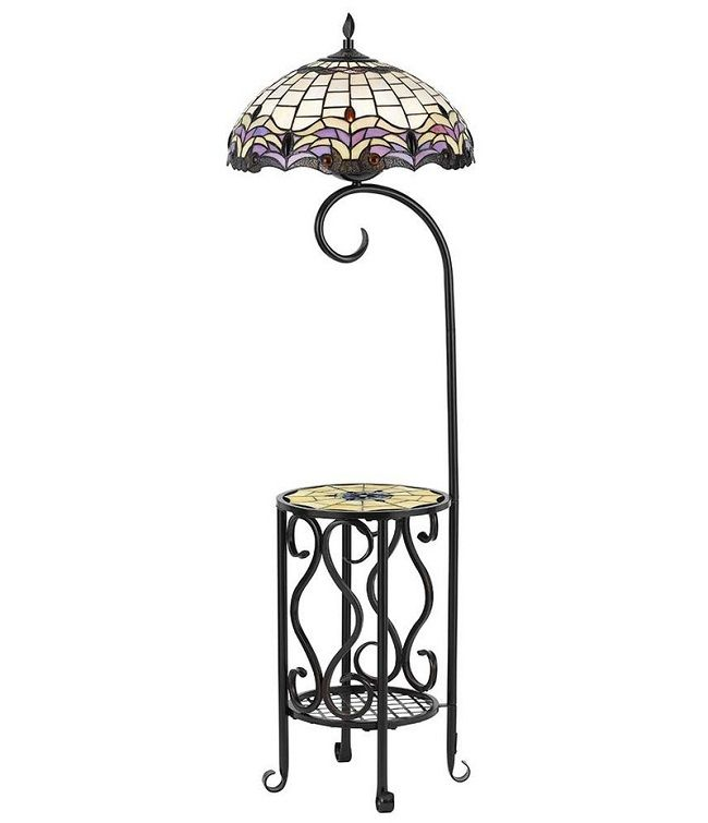 Floor Lamp With Table Attached Tiffany Style Floor Lamps Floor Lamp Table Tiffany Floor Lamp