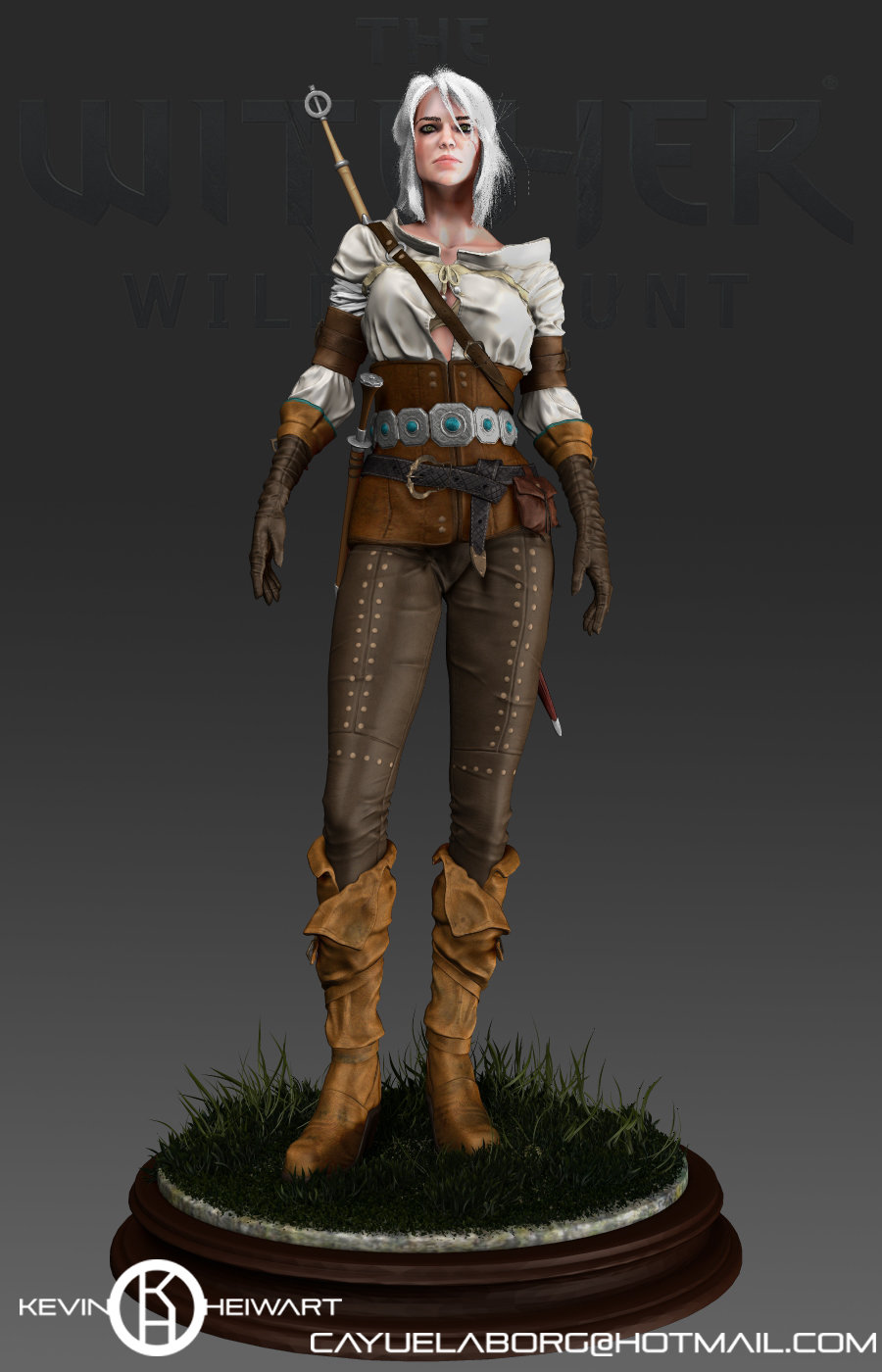 ArtStation - Ciri The witcher 3 Relax pose test, Kevin Cayuela Borg