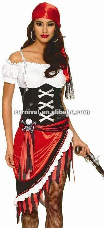Mujer Pirata Bucanero Disfraz En 2018 Pinterest Halloween - Maquillaje-de-pirata-para-mujer