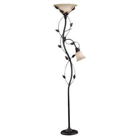Kenroy Home Ashlen 2 Light Floor Lamp Walmart Com Torchiere Floor Lamp Tropical Floor Lamps Floor Lamp