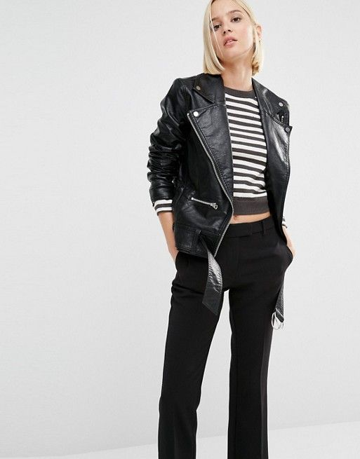 Cheap Monday | Cheap Monday Punch Leather Look Oversized Biker ...