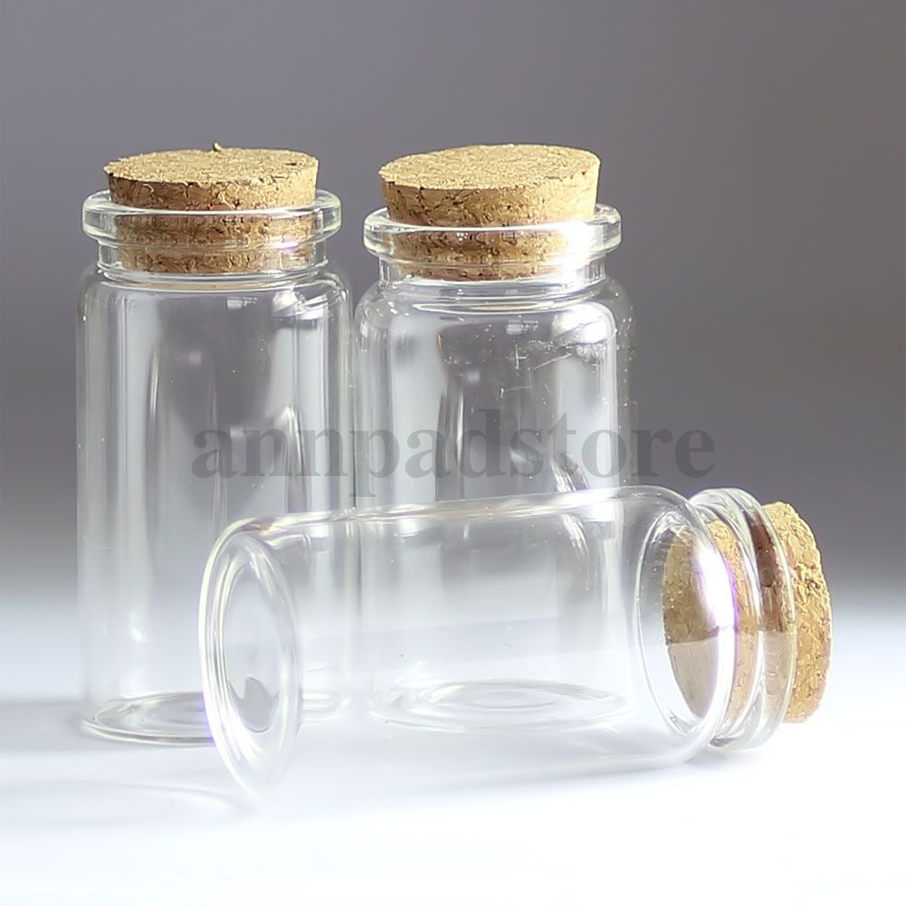 Wholesale lot empty clear cork glass bottles vials with corks u ml