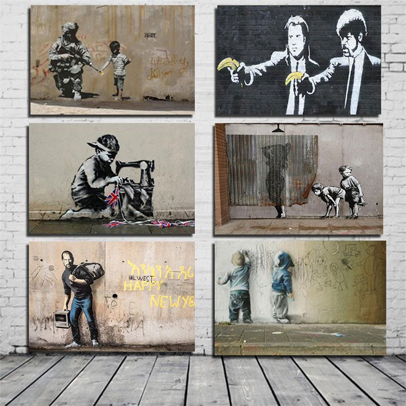 Banksy Poster Graffiti Pop Wall Art Canvas Painting Posters Prints Abstract Wall Pictures For Living Room Restaurant Decoration Graffiti Wall Art Wall Art Canvas Painting Canvas Wall Art
