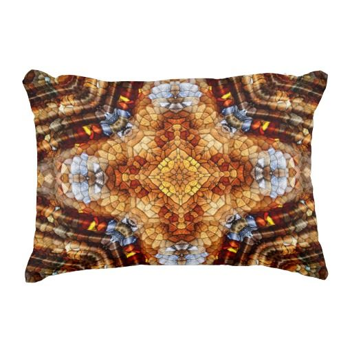 Rainbow Riverbed Mandala Lumbar Pillow