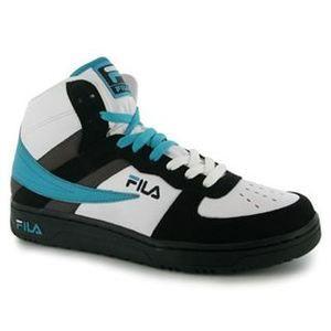 Mens FILA high top trainers UK White