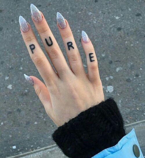 Image Result For Baddie Aesthetic Tumblr Aesthetic Tattoo Finger Tattoos Tattoos