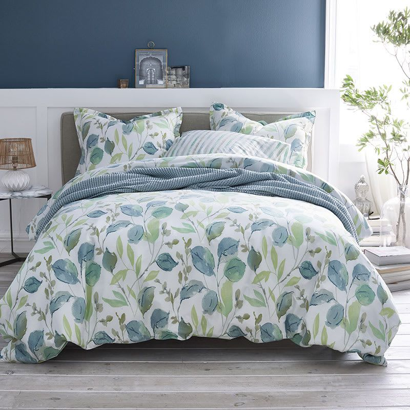 Company Cotton Griffin Leaf Percale Duvet Cover Multi In 2021 Full Duvet Cover Duvet Covers Duvet Covers Twin