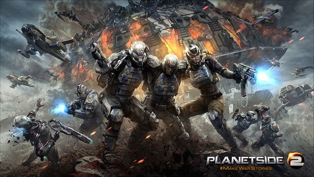 Free-to-Play Shooter PlanetSide 2 Gets New PlayStation 4 Trailer and Key Art - MP1st