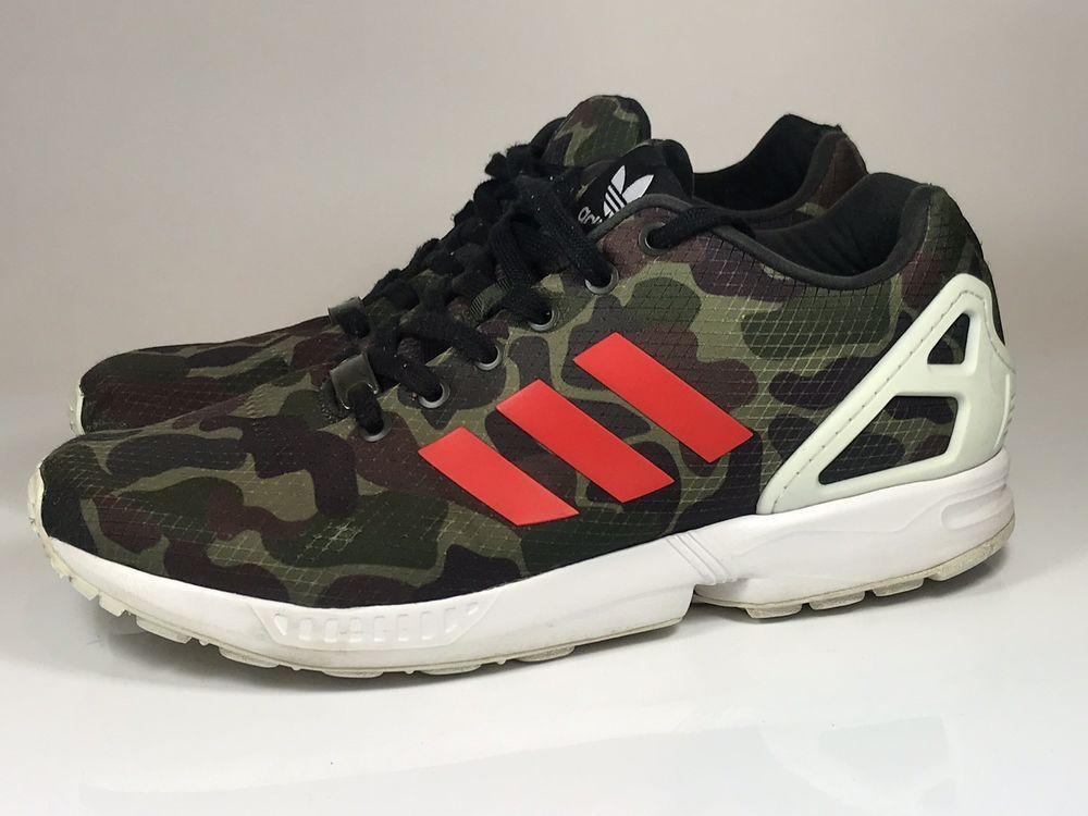 sports shoes beeea 823e2 Adidas ZX Flux Sz 10.5 Army Green Camo Camoflauge BB2176 ...
