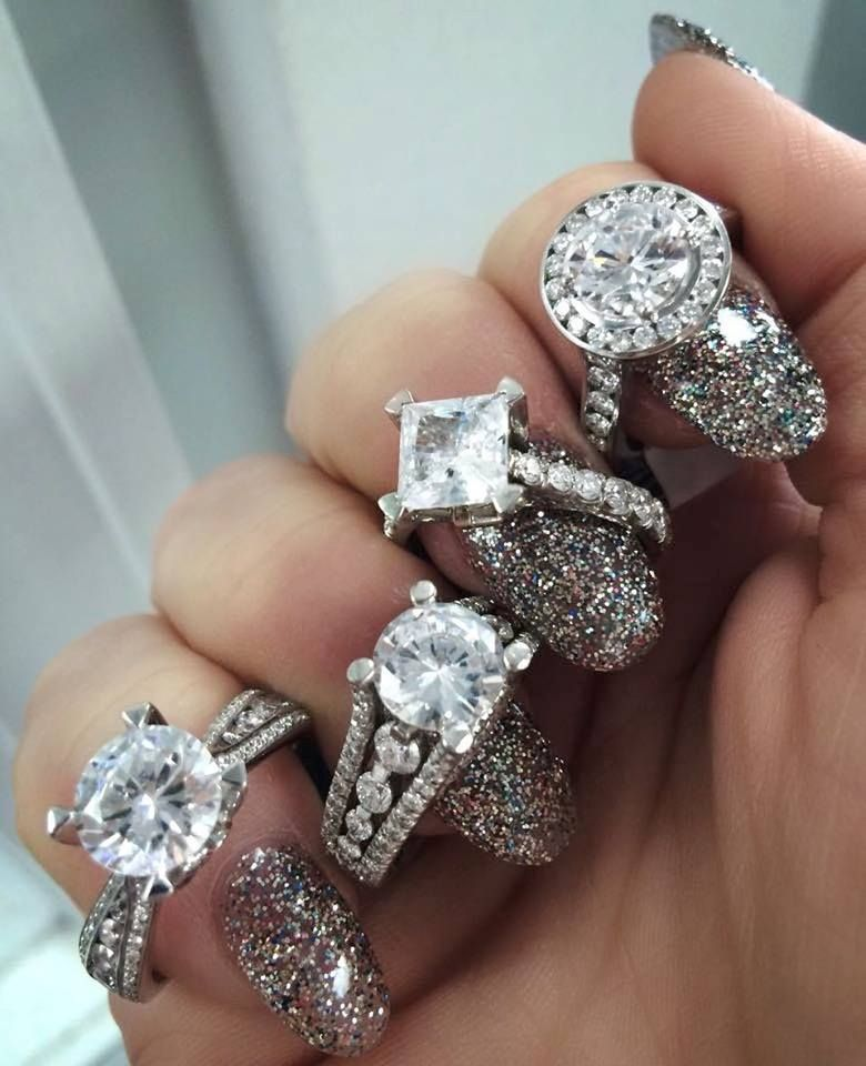 We Aren T Sure Which Sparkles More Michael M Rings Or The Nails D Geller Son Fine Jewelry Jewelry Diamond Engagement
