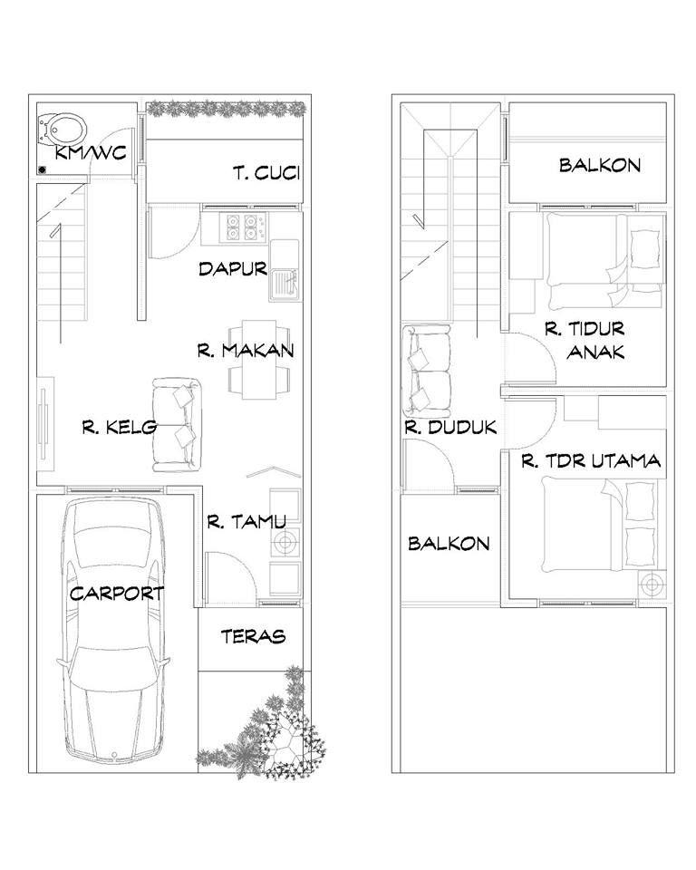 Design Layout Floor Plans 1 St Denah Rumah Rumah Impian Rumah
