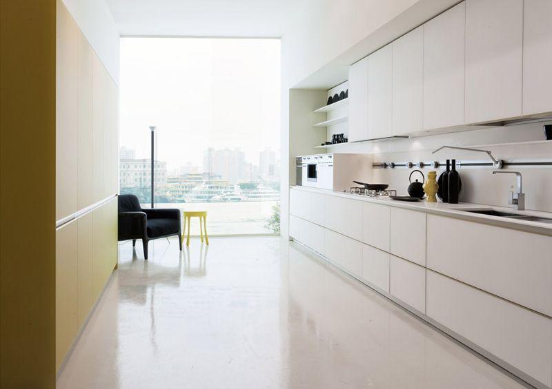 Cocina: transicion de altura respecto al hueco con juego de plafond ...