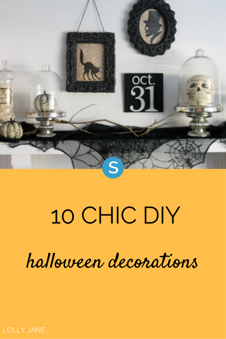 10 Chic DIY Halloween Decorations For The Most Adult Halloween ...