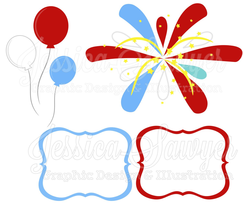 instant download fourth of july clip art and digital paper firework rh pinterest co uk