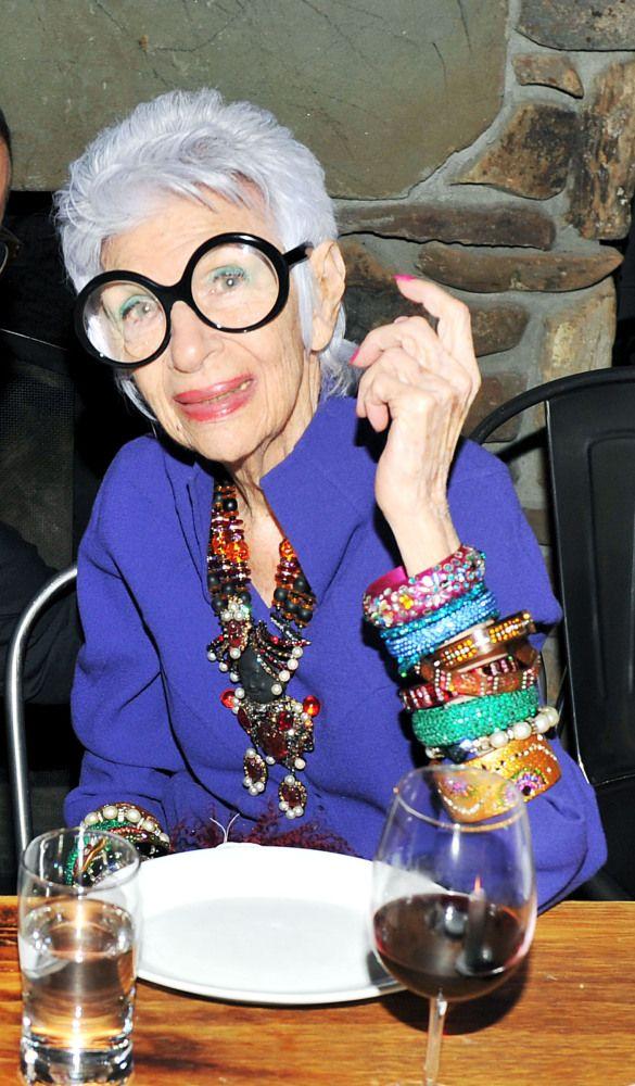 Iris Apfel  (born August 29, 1921) is an American businesswoman, interior designer, and fashion icon.