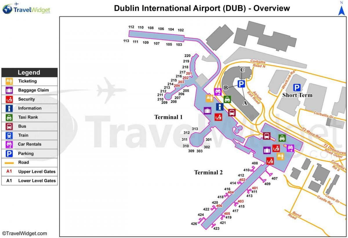 Dublin Airport Map map of Dublin airport | Travel: Ireland | Dublin airport, Map, Dublin