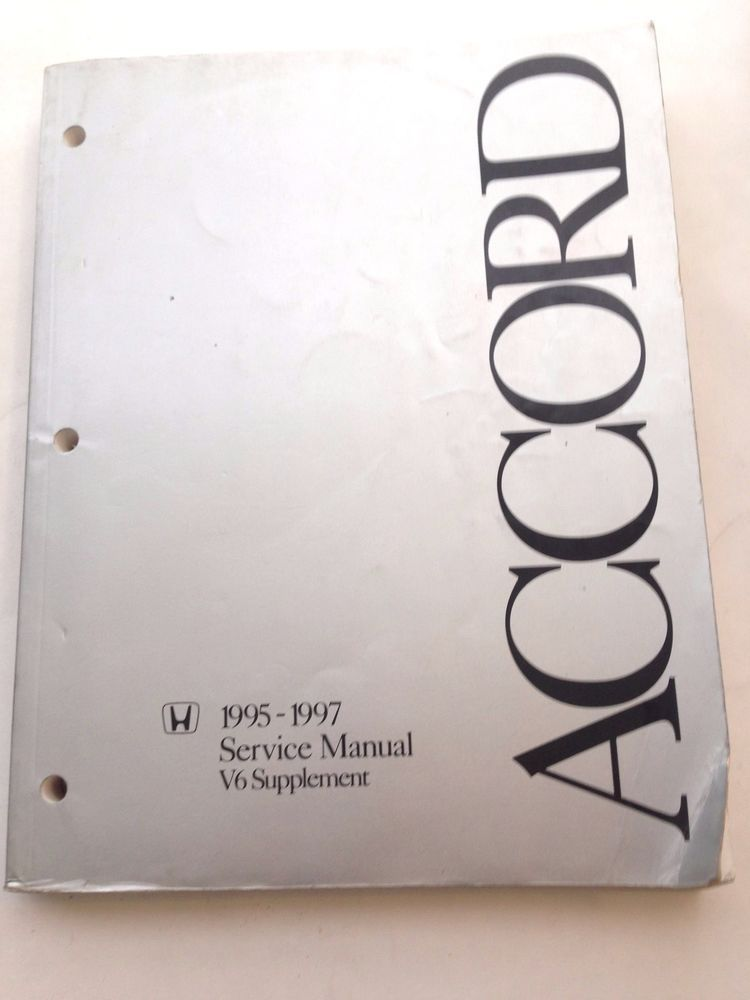 details about honda accord 1995 1997 service manual v6 supplement rh pinterest com Honda Accord Parts 91 Honda Accord Manual