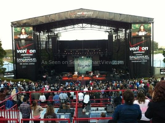 Verizon Wireless Amphitheatre Irvine Ca Seating Chart View