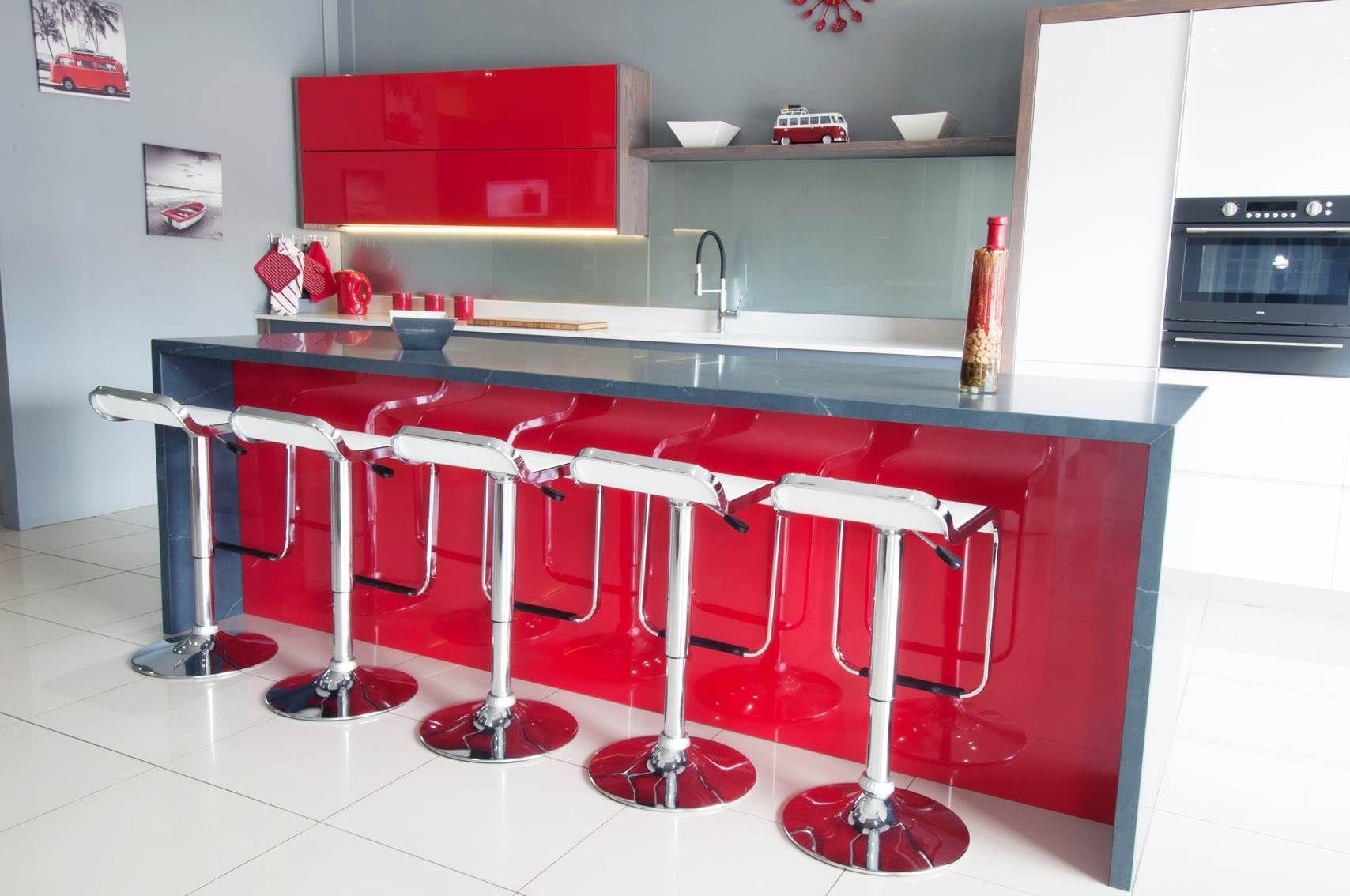 Candy Red Melawood Supagloss Modern Kicthen Image