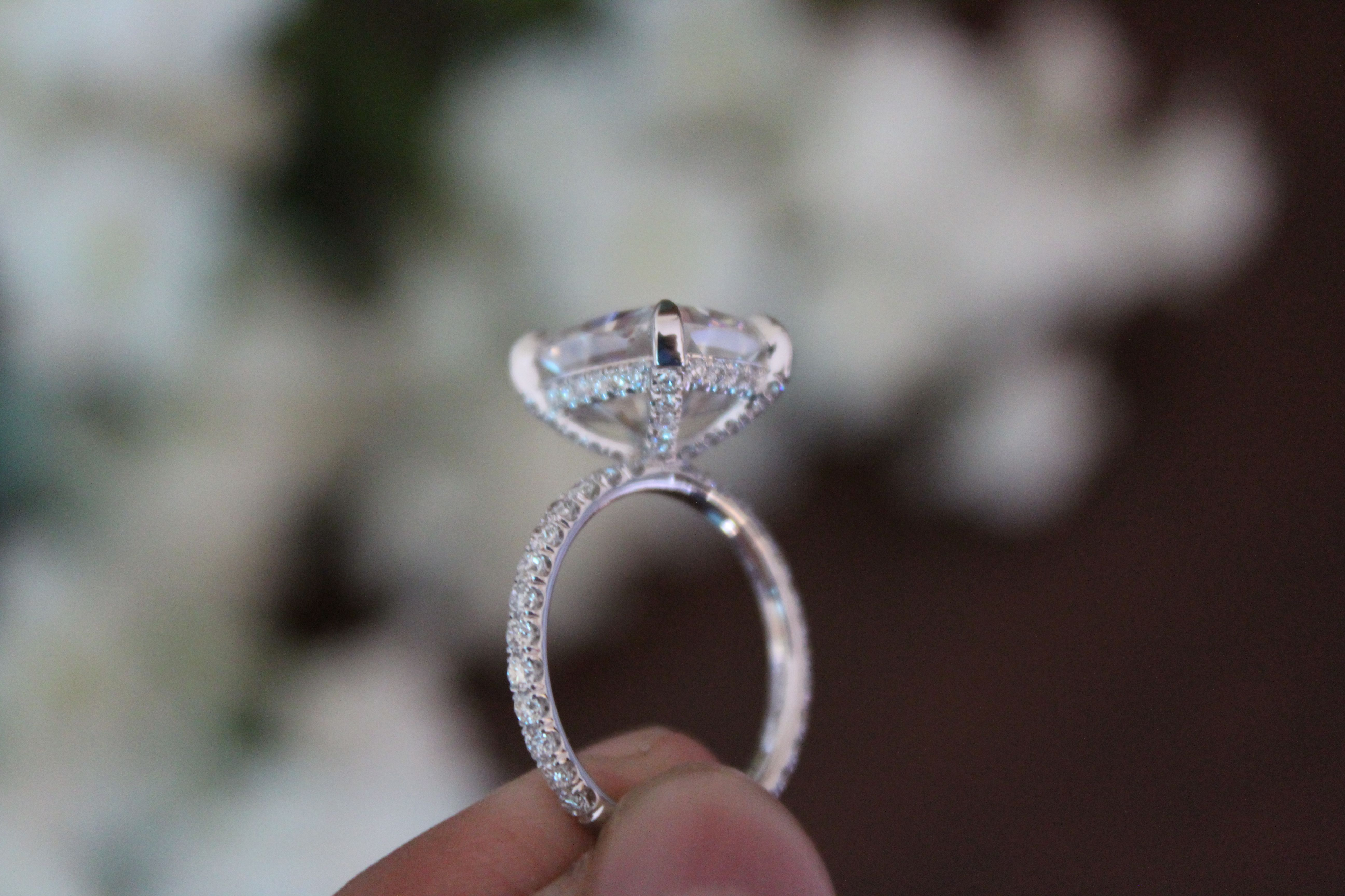 pave handcrafted dousset diamond grey inspiration solitaire jean micro profile margaret ring rings custom engagement
