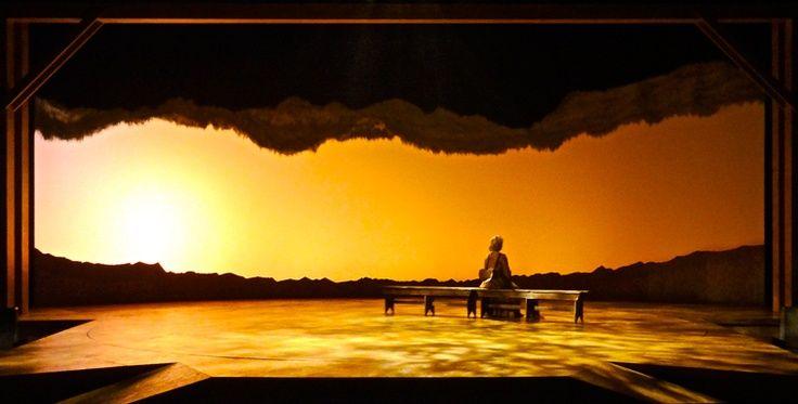 sunset stage lighting design scenic