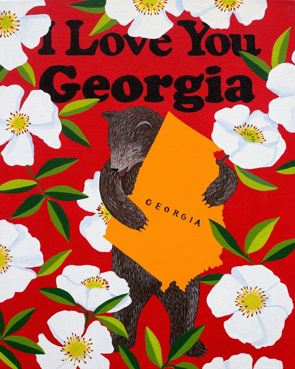 I Love You Georgia Print Gallery Wall Pinterest Cherokee Rose
