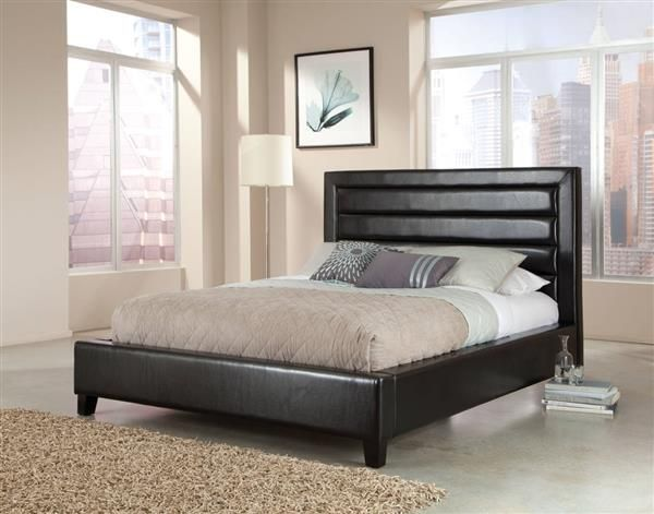 Reaction Modern Black Queen Upholstery Bed With Images