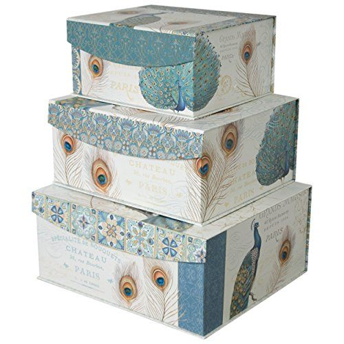 Decorative Stackable Boxes Decorative Storage Organizer Boxes With Magnetic Sealable Lids