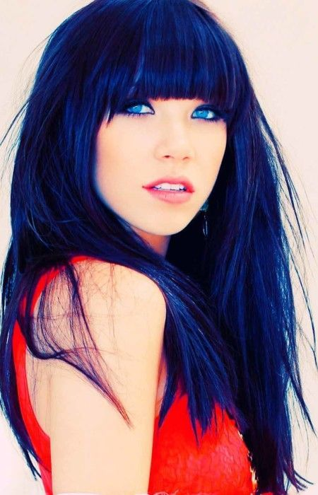 27 Blue Black Hair Tips And Styles | Black hair, Hair coloring and ...