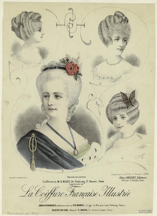 La coiffure française illustrée. (1914) Edwardian