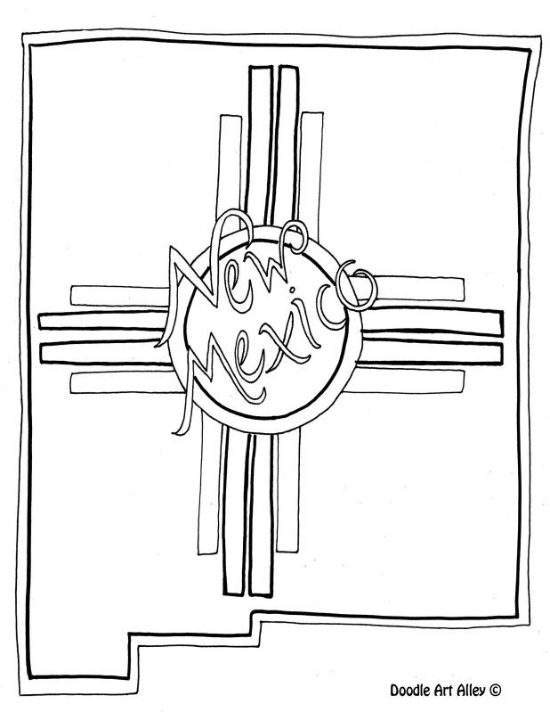 New Mexico Coloring Page By Doodle Art Alley Usa Coloring Pages