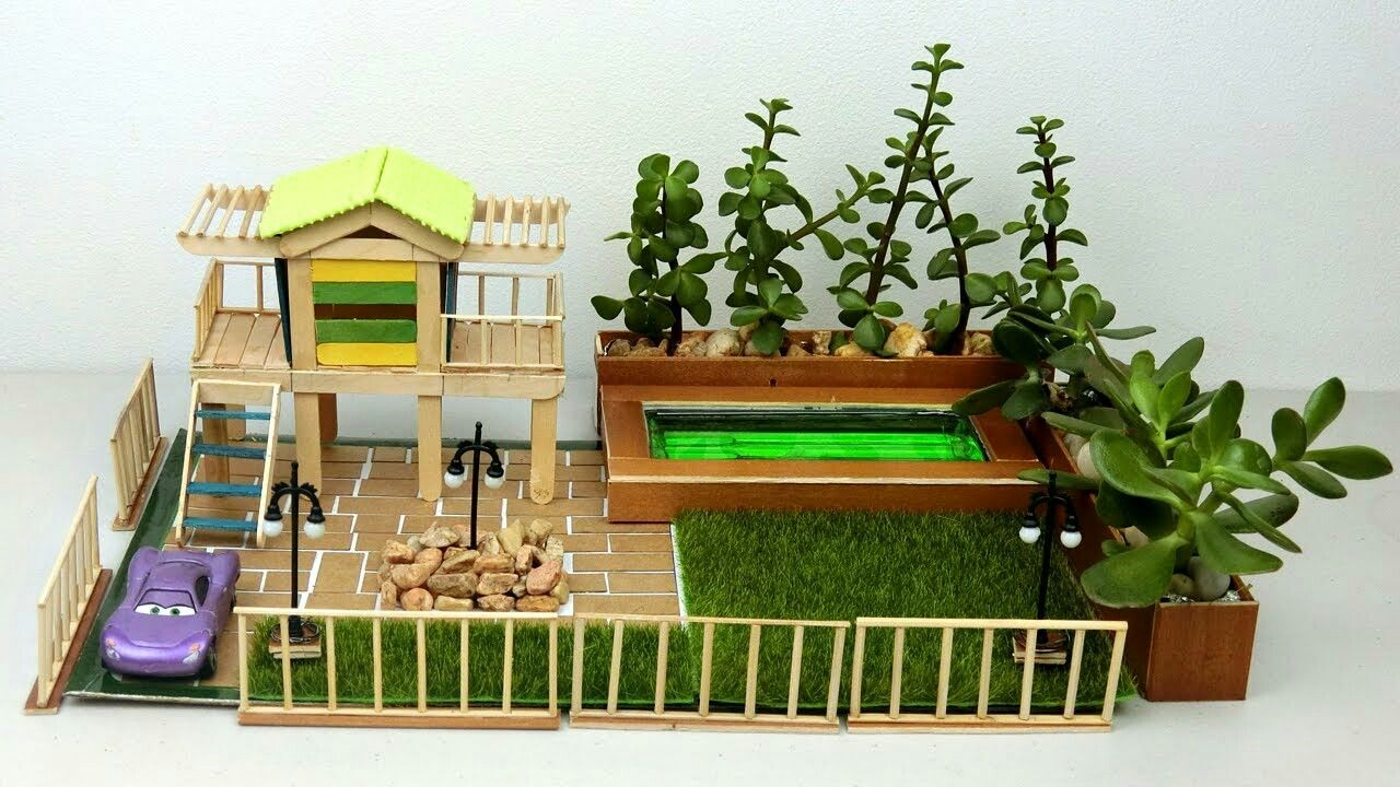 DIY Mini Fairy Garden #8 | Easy Crafts Ideas | Popsickle Craft ...