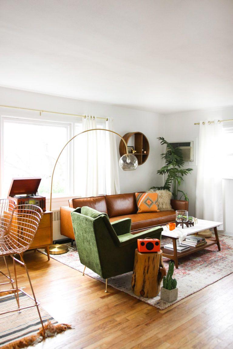 west elm  steffy's midcentury living room makeover