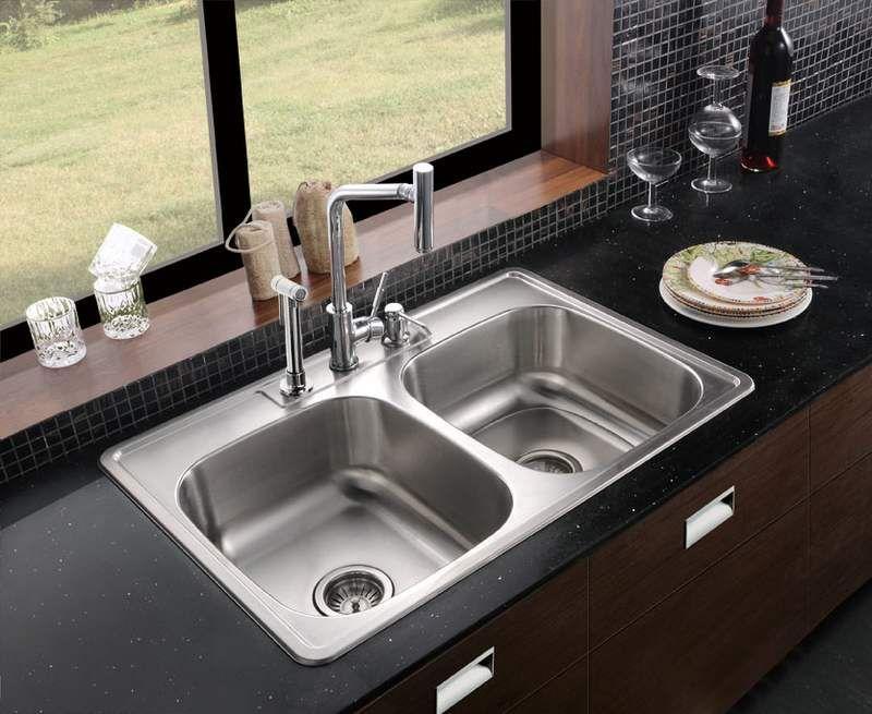 Kitchen Sinks Stainless Steel Undermount Double Bowl