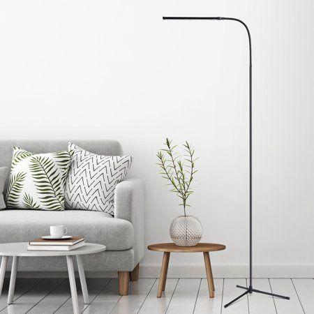 Slypnos Black 3 In 1 Ultra Slim Led Floor Lamp Flexible Dimmable Gooseneck Desk Lamp Led Floor Lamp Floor Standing Lamps Floor Lamp