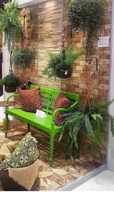 Lindo demais @ Ideias para a casa Jardim de varanda, Jardins de casas e Decoraç u00e3o de var -> Decoração Para Jardins Com Paletes