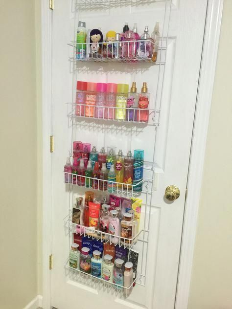Use An Over The Door Spice Rack Organizer In The Bedroom