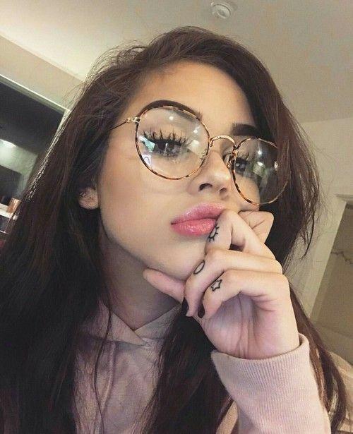2efc28e9615 glasses, maggie lindemann, and makeup image | ✰ insta girls ...
