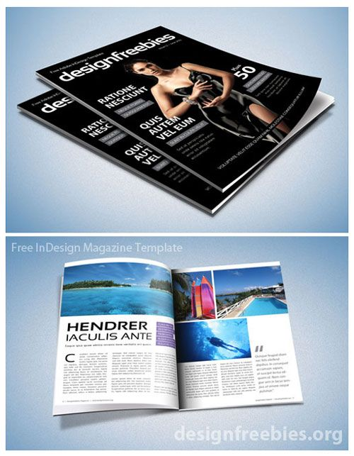 Gut bekannt Free Exclusive Adobe InDesign Magazine Template v.2 | Books Need  EM96